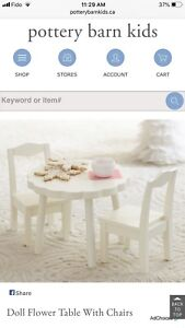 Pottery Barn Doll Table and Chairs