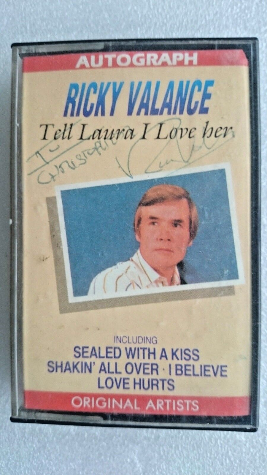 Ricky Valance  Autograph - Tell Laura i Love Her .(Cassette Inlay Cover Signed)