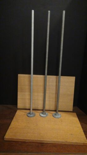 Vintage Lab Stands - Cenco - 2 Lab Stand Bases with 3 Lab Stand Rods