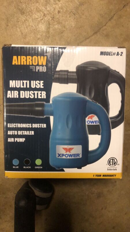 Xpower A-2 BLACK Airrow Pro Multipurpose Electric Duster & Blower Black New