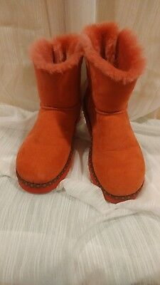 Used, UGG BAILEY BOW MINI Red BOOT  w/Navy RIBBON  for sale  Murrells Inlet