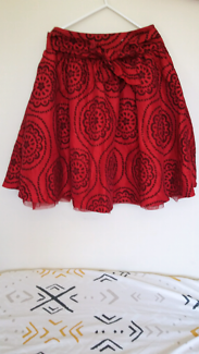 Red party skirt