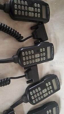 Lot Of Motorola 4 Astro Spectra W3 Hhch Control Head Microphone Ymn4016b Tested