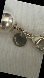 Authentic Tiffany & Co silver bead necklace and bracelet