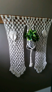 Large macrame wall piece with plant hanger included. Bray Park Pine Rivers Area Preview