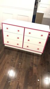 6 drawer dresser perfect for a little girl's room!