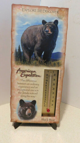 Black Bear Desk/wall Thermometer