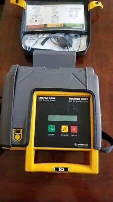Medtronic Lifepak 500 Biphasic Aed Trainer Wbattery Case