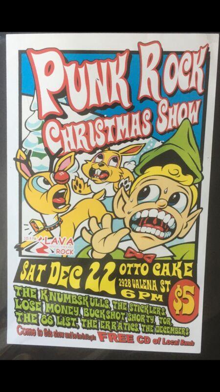 PUNK ROCK CHRISTMAS SHOW ORIGINAL VINTAGE HAWAII CONCERT POSTER. 8 VARIOUS BANDS