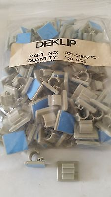 Round Cable Clamp Gray Nylon Adhesive Mount 316 Lot Of 10pc