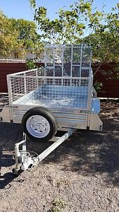 8x5 box trailer, cage and ramp Tennant Creek Tennant Creek Area Preview