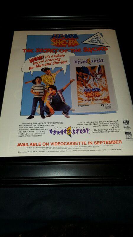 He-Man & She-Ra Secret Of The Sword Rare Original Promo Poster Ad Framed!