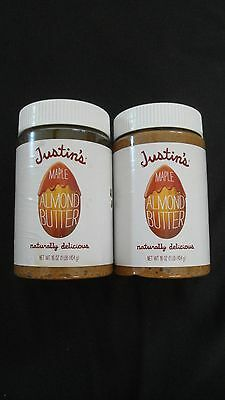(2) Justin's Maple Almond Butter 16 Oz Each Naturally Delicious