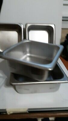 16 Size 2.5 Deep Ss Hotel Pansteam Table W1 Lid - Lot Of 4 Pans