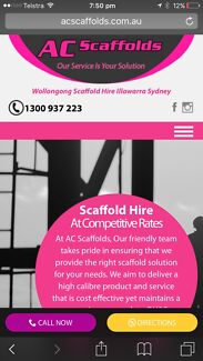 Scaffold hire and labour
