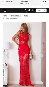 Red lace dress never worn