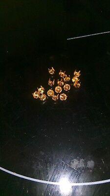 100X Apprets pour chatons PP29/SS15 en alu doré N°4