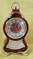 Miniature Table Clock Vintage Classic Mini Tower Design 9 Inches Tall