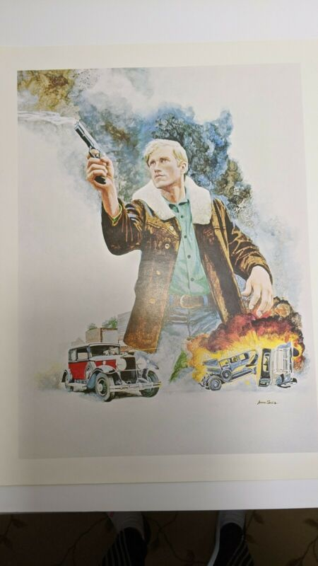 Vintage John Solie CBS Affiliate Ken Howard The Manhunter (?) Promo Poster Print