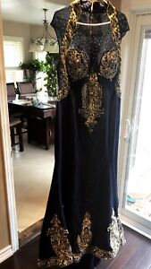 Evening gown prom dress bridal