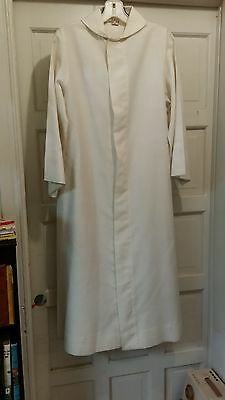 LITURGICAL CLERGY ALTAR SERVER ALB SLABBINCK YOUTH SIZE 1 OATMEAL POINTED COLLAR