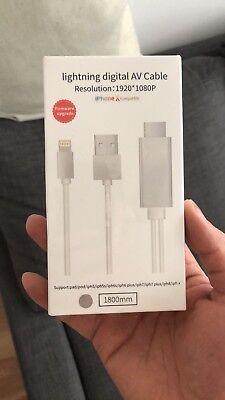 NEW SEALED Apple Lightning Digital AV Adapter (Lightning To HDMI)