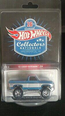 2016 RLC Hot Wheels 16th Nationals Convention 83 Chevy Silverado 4X4 60/2000
