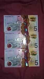 New five dollar notes Gordon Park Brisbane North East Preview