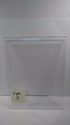 Slatwall Acrylic T-shirt Display Holders Set Of 3 With Inserts Retail Tees