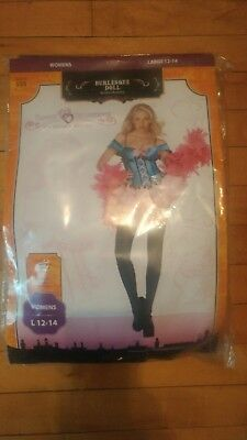 Burlesque Doll Women's Halloween Costume Size Large 12-14](Burlesque Halloween Costumes For Women)