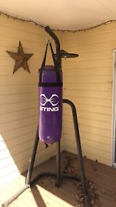 Boxing bag with mitts and pads