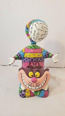 Romero Britto Disney Cheshire Cat Alice in Wonderland Pop Art Figurine , Rare