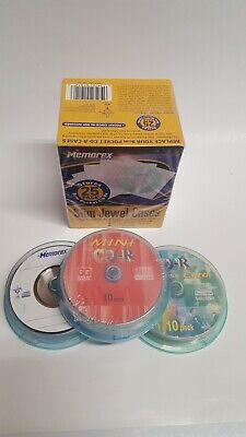 25 Pack Memorex Slim Jewel Cases 8cm Pocket New CD-RW 185mb CD-R Business Cards (Memorex Slim)