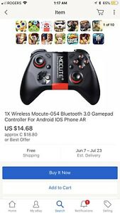 Game pads controller Bluetooth- ipega and mocute