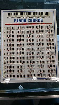 Piano Chord Chart Portable Keyboard Notes Best Beginner Diagrams 8.5 x 11 2523