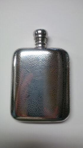 English Peweter 6 oz Flask