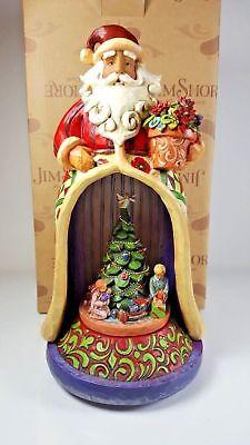 Jim Shore 4006647 Christmas Spirit Lives Within Musical Santa Diorama in Box