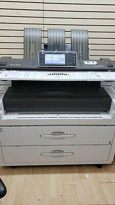 Ricoh Mpw 8140 Wide Format Printer Scanner Copier - 325k Total Meter