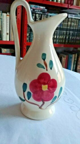 """PURITON POTTERY MOUNTAIN ROSE PITCHER -7 3/4"""" HIGH"""