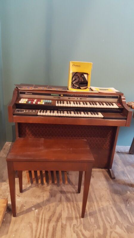Vintage THOMAS Organ with Bench and Accessories 1975