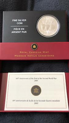 2005 60th anniversary of the end of the 2nd world war Canada Silver