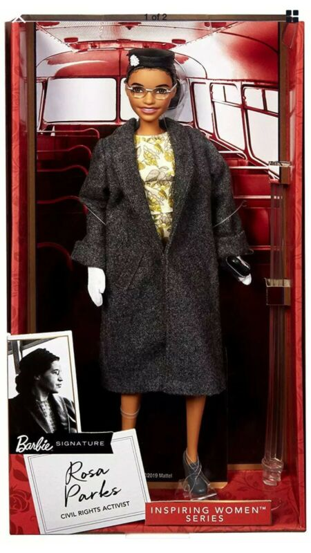 Rosa Parks Mattel Barbie Doll Inspiring Women Series with Accessories NEW TOY