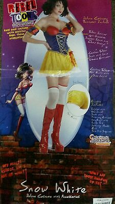 Snow White Princess costume Rebel Toon Adult Fairytale Costume new large (Fairytale Princess Costume Adults)