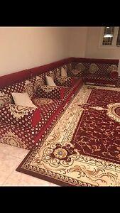 Arabian sofas (majlis) + matching tables