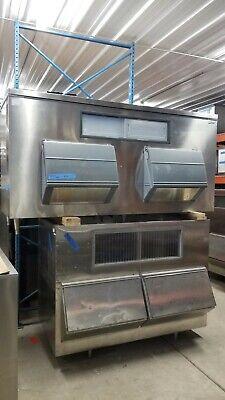 Two Each Follett Sg1850s-96 Large Capacity Ice Storage Bin 96 Wide