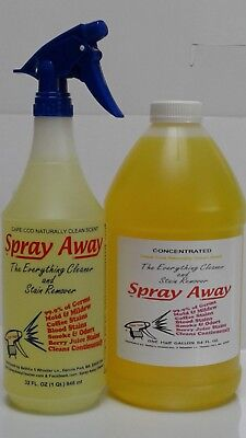 Half Gallon Concentrate - Spray Away Cleaner & Stain Remover Half Gallon Concentrate Naturally Clean Scent