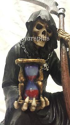 Steampunk Myth-Grim Reaper On Skull Statue Sculpture Figure Ships Immediately!!!