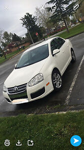2007 White Volkswagen Jetta - 4 door sedan