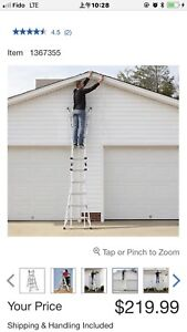 Multi-position ladder only $140 ( was $220 plus tax)