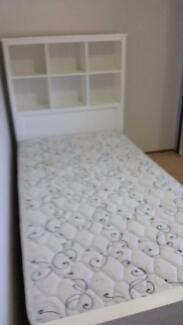 King Single Bed Frame with Bookshelf